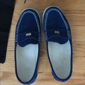 Chanel blue loafers